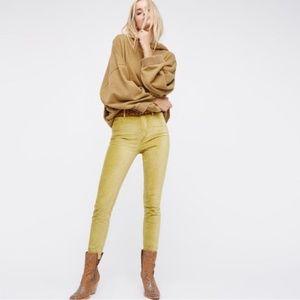 Free People Cyndi Velvet Skinny Jeans - size 25